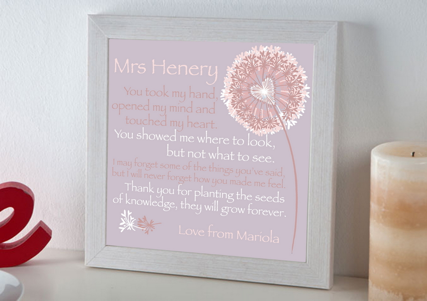 a great teacher personalised print lucys world childrens gift ideas personalised presents - Teacher Pictures To Print