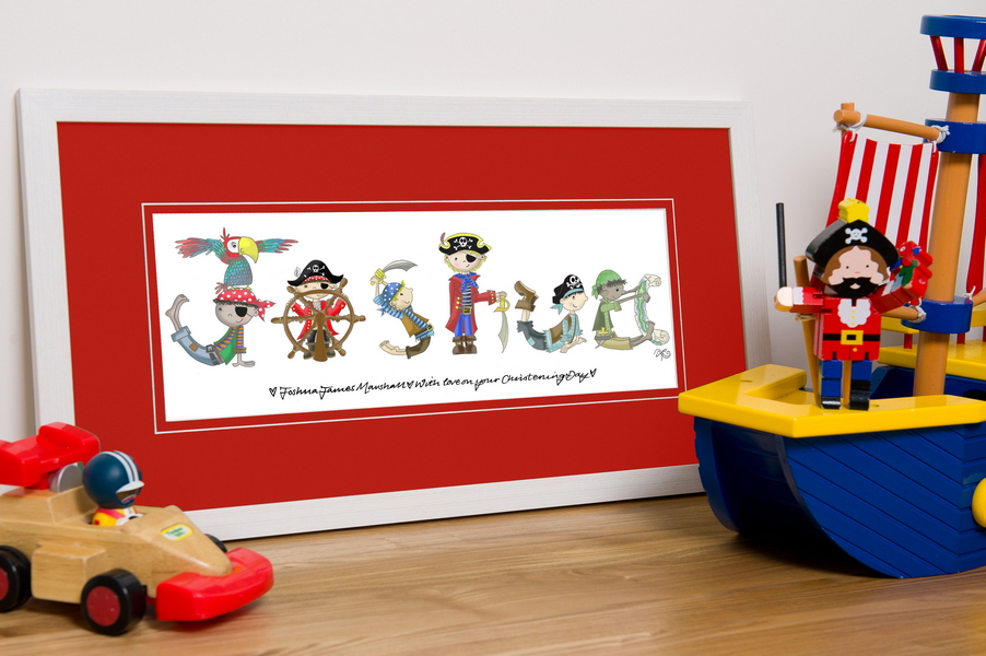 Pirate Name Frame - Lucy\'s World - Childrens gift ideas ...